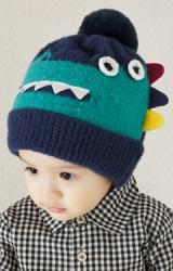 หมวกไหมพรมไดโนเสาร์ ผ้าไหมพรมฟูหนานุ่ม