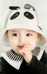 หมวกแพนด้าน่ารัก ผ้าลูกฟูก ด้านข้างมีผ้าปิดหูผ้าขน GZMM