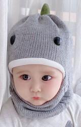 หมวกไหมพรมไดโนเสาร์ หมวกโม่งกันหนาว