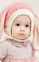หมวกไหมพรมหูกระต่ายยาว แบบใหม่ไหมพรมฟู GZMM