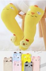 ถุงเท้าเด็กแบบหนาหน้าตุ๊กตาสัตว์น่ารัก แบบยาว