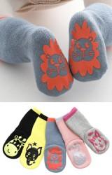 ถุงเท้าเด็กมีกันลื่นรูปสัตว์น่ารัก แบบหนา