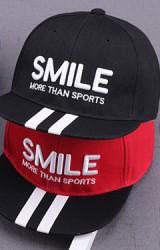 หมวกแก๊ปฮิปฮอป ปัก SMILE