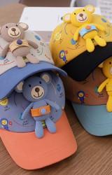 หมวกแก๊ปลายระบบสุริยะจักรวาล แต่งตุ๊กตาหมีน้อย