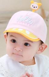 หมวกแก๊ป hello ด้านบนแต่งการ์ตูนน่ารัก  tutuya