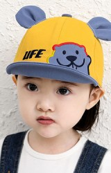 หมวกแก๊ปหมีน้อยน่ารัก  ปีกหมวกพับได้