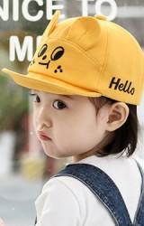 หมวกแก๊ปหน้าการ์ตูน ปัก Hello จาก kukuji