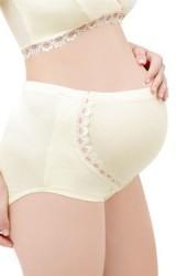 กางเกงในคนท้องผ้านุ่มเนื้อดี แต่งลูกไม้หวานช่วงรอบท้อง