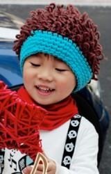 หมวกไหมพรมเงาะป่า หมวกน่ารักสไตล์เกาหลี