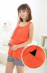เสื้อยืดแขนกุดสำหรับคนท้อง เปิดให้นมลูกได้