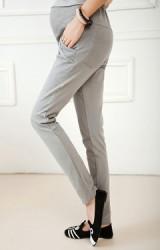 กางเกงคลุมท้องขายาว เด่นที่กระเป๋าข้างเย็บขอบซ้อน