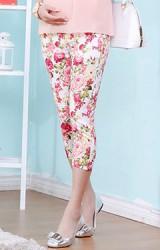 กางเกงคลุมท้องแบบ 4 ส่วน ผ้าลายดอก
