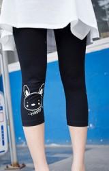 กางเกง Leggings คนท้องแบบ 4 ส่วน สกรีนรูปกระต่ายน่ารัก