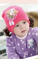 หมวกปอยผมเด็กรูปตุ๊กตาสาวน้อยกระโปรงบาน